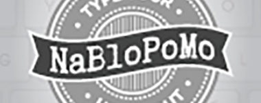 I'm Participating in NaBloPoMo!